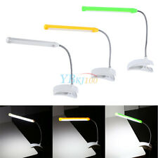 Travel Flexible LED Clamp Clip-On Reading Book Light Lamp With ON / OFF Switch