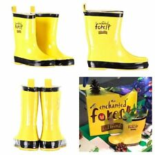 KIDS BOYS GIRLS ENCHANTED FOREST WELLIES BOOTS WELLIES WINTER BOOTS Size 8-12