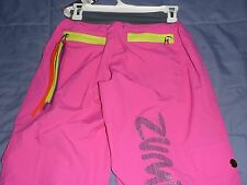 NWT Authentic Zumba A Cut Above Cargo Pants -Back to Fuchsia, Blast Blue, green