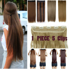 US Seller 5 Clips Hair Extension Long Luxury Thick One Piece Half Full Head A22