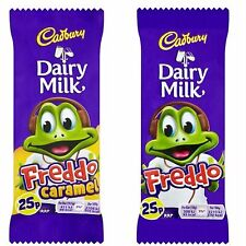 CADBURY DAIRY MILK FREDDO CHOCOLATE or FREDDO CARAMEL BOX OF 60 BARS 25p PMP