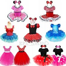 2017 Baby Girl Fancy Cartoon Cosplay Costume Polka Dots Minnie Mouse Dress Up