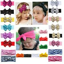 Baby Girl Rabbit Bow Headband Hairband Headwear Bunny Headdress Hair Band Turban