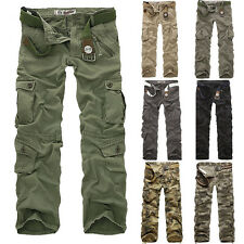 Combat Men's Cotton Cargo ARMY Pants Military Camouflage Camo Trousers Fashion _