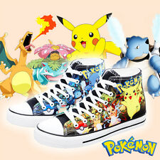 Anime Pokemon Pikachu Star sign Canvas Casual Sneakers Shoes Unisex Cospolay New