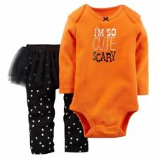 Carters I'm So Cute It's Scary Girls Set Fall Baby Girl Size 3 6 12 Months NWT