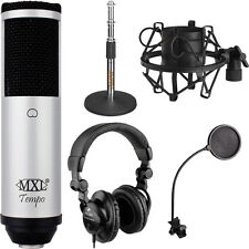 MXL Tempo USB Microphone Bundle with Headphones and Filter