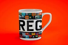 Custom Registration Plate mug personalised
