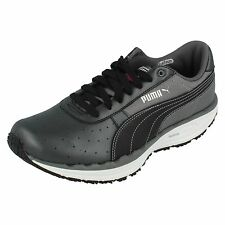 Ladies 185558 04 Black/White/Steel Grey Lace Up trainers By Puma £19.99