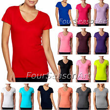 Next Level Womens Sporty Fit V neck T shirt Cotton Tee S M L XL 2XL 3400L