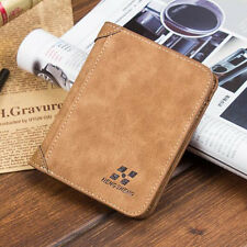 New Men Quality PU Leather ID credit Card holder Coin Purse Wallet Pockets