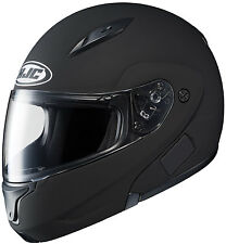 CL-MAX2 HJC Flat Black Motorcycle Modular Helmet Ready for Blutooth