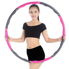 Detachable Abdominal Exercise Hula Hoop Practical Weighted Hula Hoop Fitness Gym