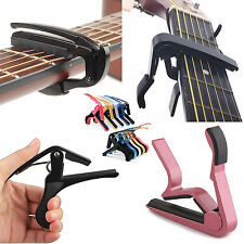 Quick Change Release Folk Acoustic Electric Guitar Capo Trigger Key Clamp colors