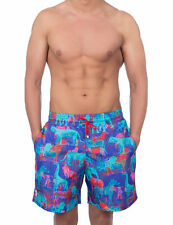 Pcp Men's Μαrocco Boardshorts Men's Pink Swimshorts 100% Polyester