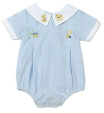"""AURORA ROYAL BABY """"HOME, SWEET HOME"""" BLUE  COTTON BLEND EMBROIDERED SHORTIE"""