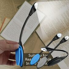 Flexible Double LED Book Reading Light Clip Arm Table Lamp Study Desk Light F7