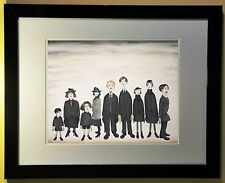 L.S. Lowry Print Framed 'The Funeral Party' 1953