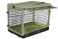 """Pet Gear """"The Other Door"""" Steel Dog Crates with pad & carry/storage bag - Sage"""