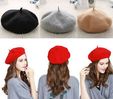 Classic Women's Soft Wool French Beret Hats Tam Beanie Slouch Beanie Cap US Ship
