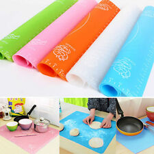 Silicone Rolling Cut Mat Sugarcraft Fondant Cake Clay Pastry Icing Dough Tool ES