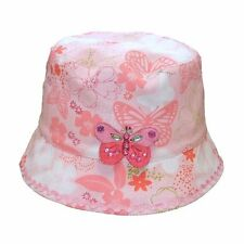 Girls Butterfly and Floral Design Bush Hat - Great for Holidays & Play