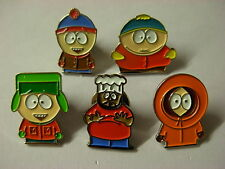 South Park 5 assorted badges Cartman Kenny Chef Kyle Stan. Available boxed
