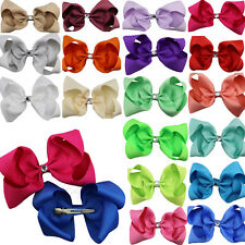 "1pcs 4"" Hair Bow Alligator Clip Hairbow Grosgrain Ribbon Baby Girl Kids Headwear"