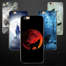 Moonlight Wolf Phone Case Cover for iPhone 4 5S 5C 6 7 Plus Samsung S6 S7 Sturdy