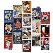 Man Cave Drinking Beer Tin Signs Bar Decor Home Pub Wall Retro Metal Art Poster