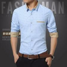 FASHION MEN POLKA DOT CASUAL SHIRTS LONG SLEEVE SLIM FIT MENS DRESS SHIRT 22219