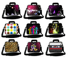 """Neoprene 15""""17"""" Laptop Handle Bag Shoulder Pouch Notebook Carry Case For Acer HP"""
