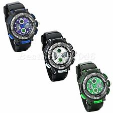 Dual Time Display Men's Multifunction Waterproof Sports Electronic Wrist Watch