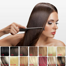 Clip in 100% Remy Real Human Hair Extensions Brown Black Blonde in stock 24 inch