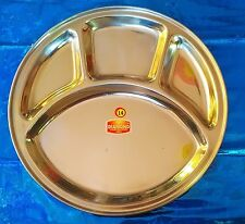 Stainless steel -Plate/Thali 4 Compartments for lunch and dinner choose *ur*QTY*