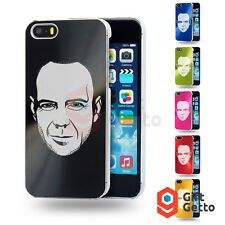 Portrait Bruce Willis Face Engraved Personalized Metal Cover Case - iphone 5/5s