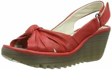 Fly London Yman Scarlet Womens Leather Slingback Sandals Shoes BRAND NEW IN BOX
