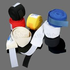 Pair Of Boxing Bandages Cotton Sports Bandage Hand Wraps Fist Protective Straps