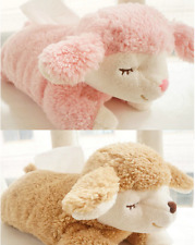 plush toy sweet sleeping sheep tissue box cover home car paper towel case 1pc