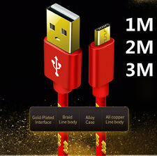 1M 2M 3M Fast Micro USB Data Charger Cable For Android Samsung Galaxy S7 HTC LG
