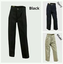 BOYS CHINO TROUSERS NAVY OR BEIGE SLIM OR FULL FIT. AGE 8 10 12 14 16 YEARS
