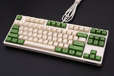 87/104 Thick PBT Cream Cheese Green Keycap for cherry MX mechanical keyboard