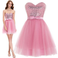 SHORT Tulle HOMECOMING Dress Mini Sequins LADY Evening Cocktail Prom Bridesmaid