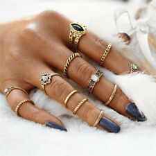 12pcs/set Mid Midi Above Knuckle Joint Ring Band Tip Finger Stacking Punk Rings