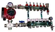 UNDERFLOOR HEATING MANIFOLDS 2-12 PORTS + 'A' RATED GRUNDFOS or WILO PUMP PACK