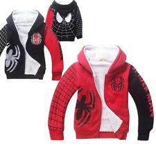 COOL Spider-Man Hero Kids Boys Girls Thick Warm Winter Hoodie Zipper Unisex Coat