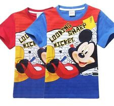 Mickey Mouse Tee Boys Girls Casual T-Shirts Kids Cartoon Short Sleeve Tops HOT