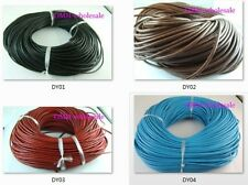 100M Real Leather Thread Cord For Necklace Bracelet without clasps Strands