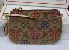 COACH PEYTON SIGNATURE CLOVER SMALL WRISTLET BAG 48965 NWT