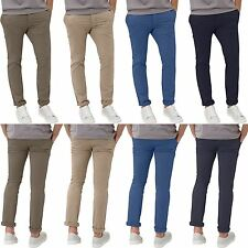 Mens Stretch Chinos New look Brand Designer Trousers Twill Skinny Slim Fit Jeans
